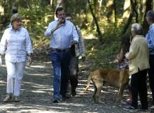 Rajoy y Merkel en un tramo del Camino de Santiago
