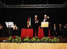 O Gondomar Club de Fútbol recibe unha medalla de ouro polo seu centenario