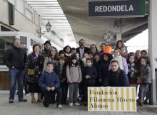 Dezanove nenos e nenas, de 7 a 10 anos, homenaxean o segundo viaduto de Redondela no seu 130 aniversario