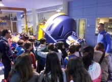Alumnos de primaria do Colexio Público de Panxón visitaron o CETMAR no marco dunha xornada educativa dedicada ao patrimonio marítimo