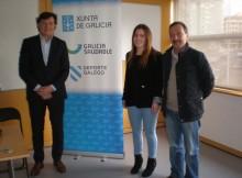 O Secretario xeral para o deporte José Ramón Lete Lasa recibiu na Casa do Deporte de Vigo a Barbara Iglesias que está embarcada no mundo da alta competición en bobsleigh.