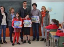 Tres-alumnos-Colexio-Estudo-finalistas-Concurso-Infantil-Debuxo-Internacional-FCC-Aqualia
