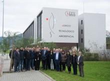 Unha representación de Airbus visita o Centro de Innovación de Porto do Molle