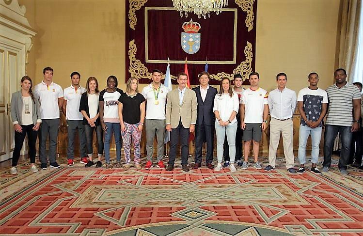 os-catro-piraguistas-olimpicos-galegos-xa-estan-en-galicia