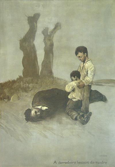 cadro-castelao-derradeira-leicion-do-mestre-viaxara-primeira-vez-galicia