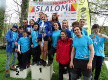 """O Club Deportivo Miño """"Teixugos"""" gaña a segunda proba da liga galega de promoción de Slalom"""