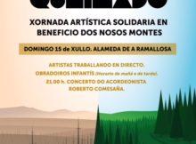 'Arte no Queimado' unha iniciativa artística para conmemorar os incendios de octubre no Val Miñor