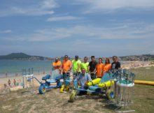 Nigrán dota ás principais praias do concello de material adaptado para facilitar o baño ás persoas con problemas de mobilidade