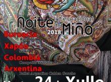 O folclore de Xapón, a República de Buriatia, Colomba e Arxentina protagonista na XIX Noite Internacional do Miño