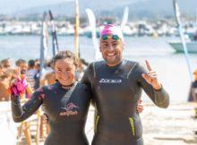 Sergio Torres e Andrea de la Hera gañadores da primeira proba da 'Triple Corona Illas Atlánticas' entre Cíes e Baiona