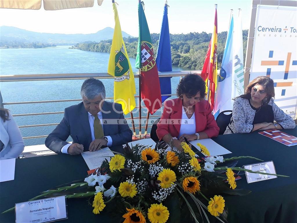 Tomiño e Cerveira dan un paso máis na súa historia de cooperación transfronteiriza, constituíndose en Eurocidade