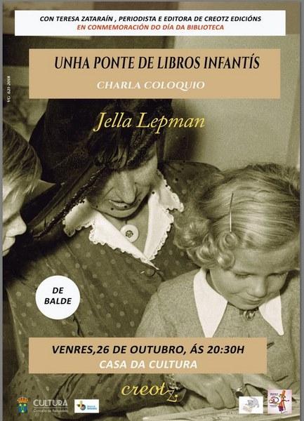 A Casa da Cultura de Redondela, acolle unha charla-coloquio sobre a figura de Jella Lepman