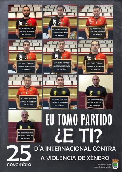 O Acanor Novás toma partido contra a violencia machista