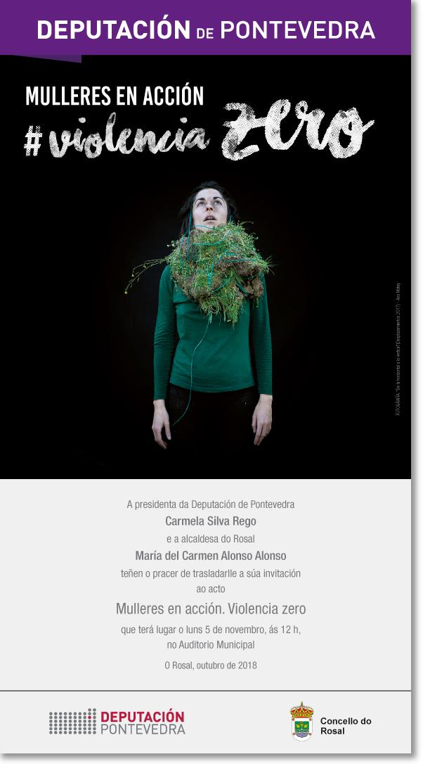 """O Rosal acolle unha nova acción de """"Mulleres en Acción, Violencia Zero coa presentación do proxecto '100% contigo' de Mar Caldas"""
