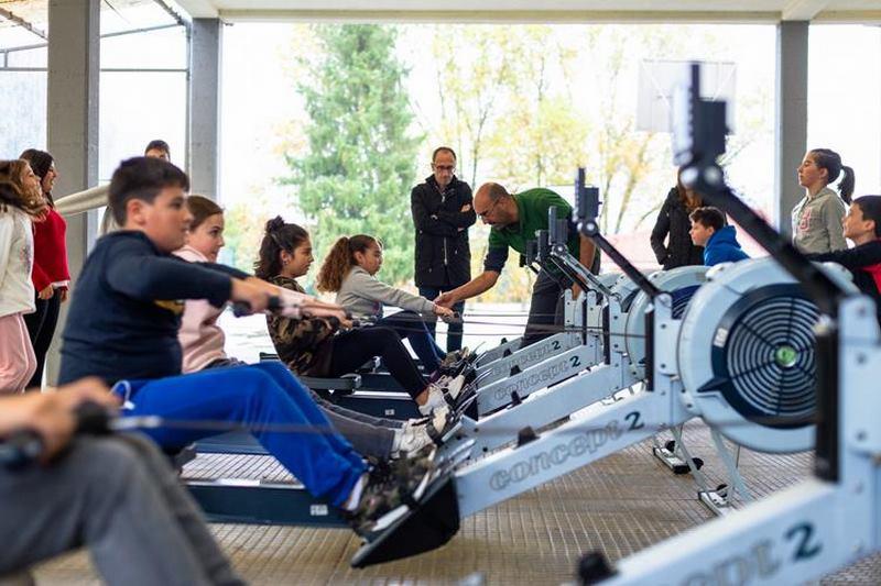 600 escolares de Tomiño inícianse na práctica do remo