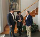 Encontro entre o Delegado de Zona Franca e a Alcaldesa de Tomiño para estudar vías de colaboración co Baixo Miño
