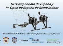 Orense acollerá o 18º Campionato de España e o 1º Open de España de Remo Indoo
