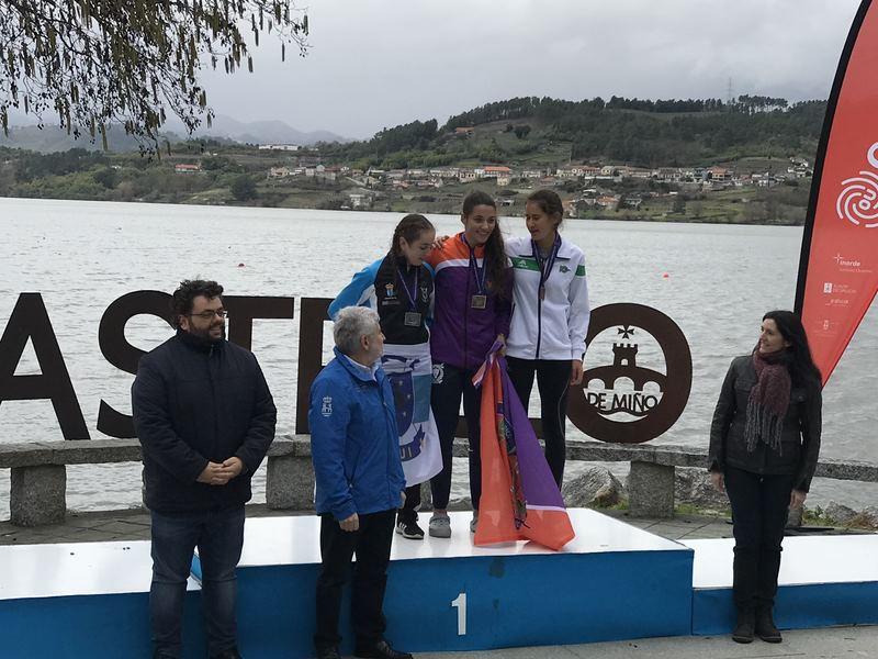 Prata e bronce para o Club Remo do Miño de Tui no Campionato de España de Fondo