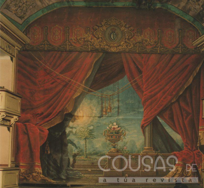 O telón do Teatro Principal será exposto durante as festas de San Telmo