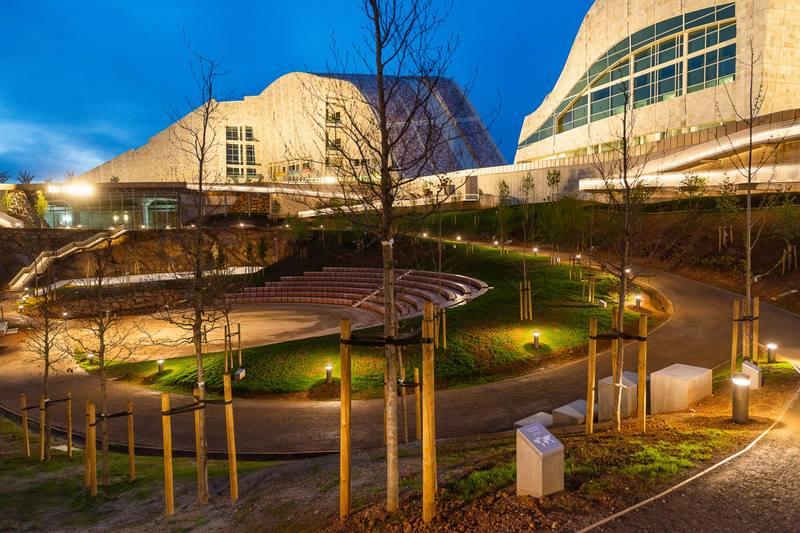 A Cidade da Cultura abre ao público o novo espazo verde do Xardín do Teatro