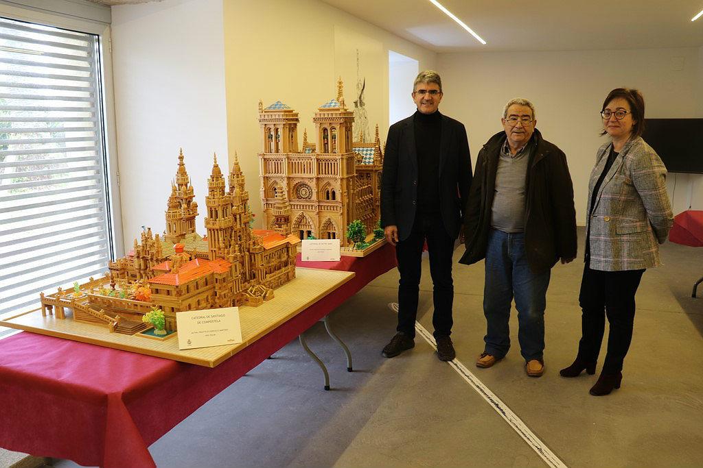 A Catedral de Notre Dame na exposición de maquetas e figuras inaugurada onte na Guarda