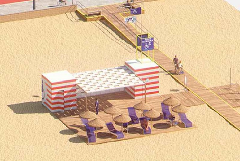 Baiona creará unha área de accesibilidade na praia Ladeira