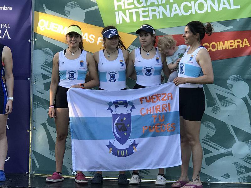 Oito medallas para o Club Remo do Miño na 38ª Regata Internacional 'Queima dás Fitas' en Coimbra