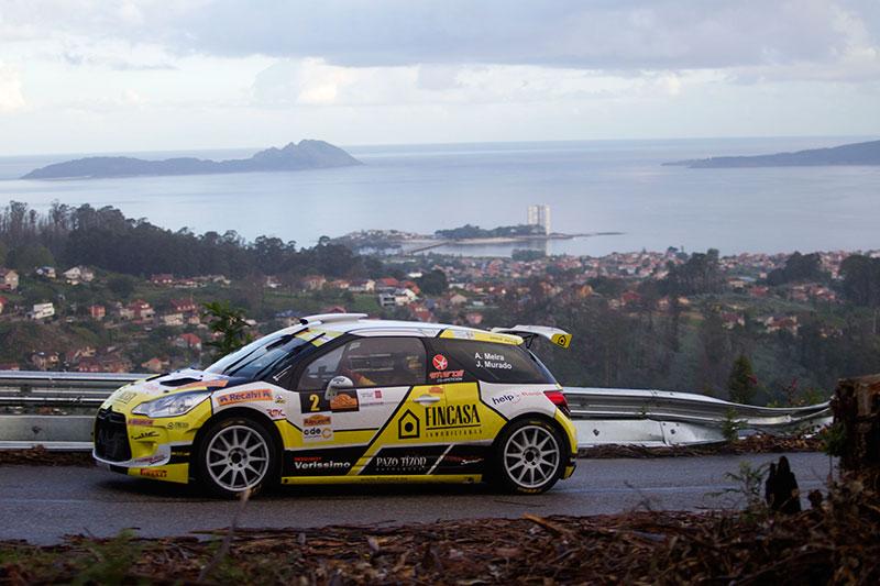 O equipo de Víctor Senra e David Vázquez co seu Citroën C3 R5 imponse no 53 Rally Recalvi Rías Baixas