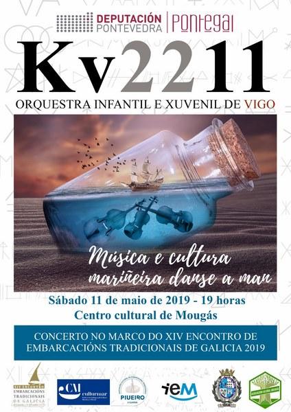 Oia acolle un dos concertos que a orquestra Kv2211 ofrece no marco do XIV Encontro de Embarcacións Tradicionais
