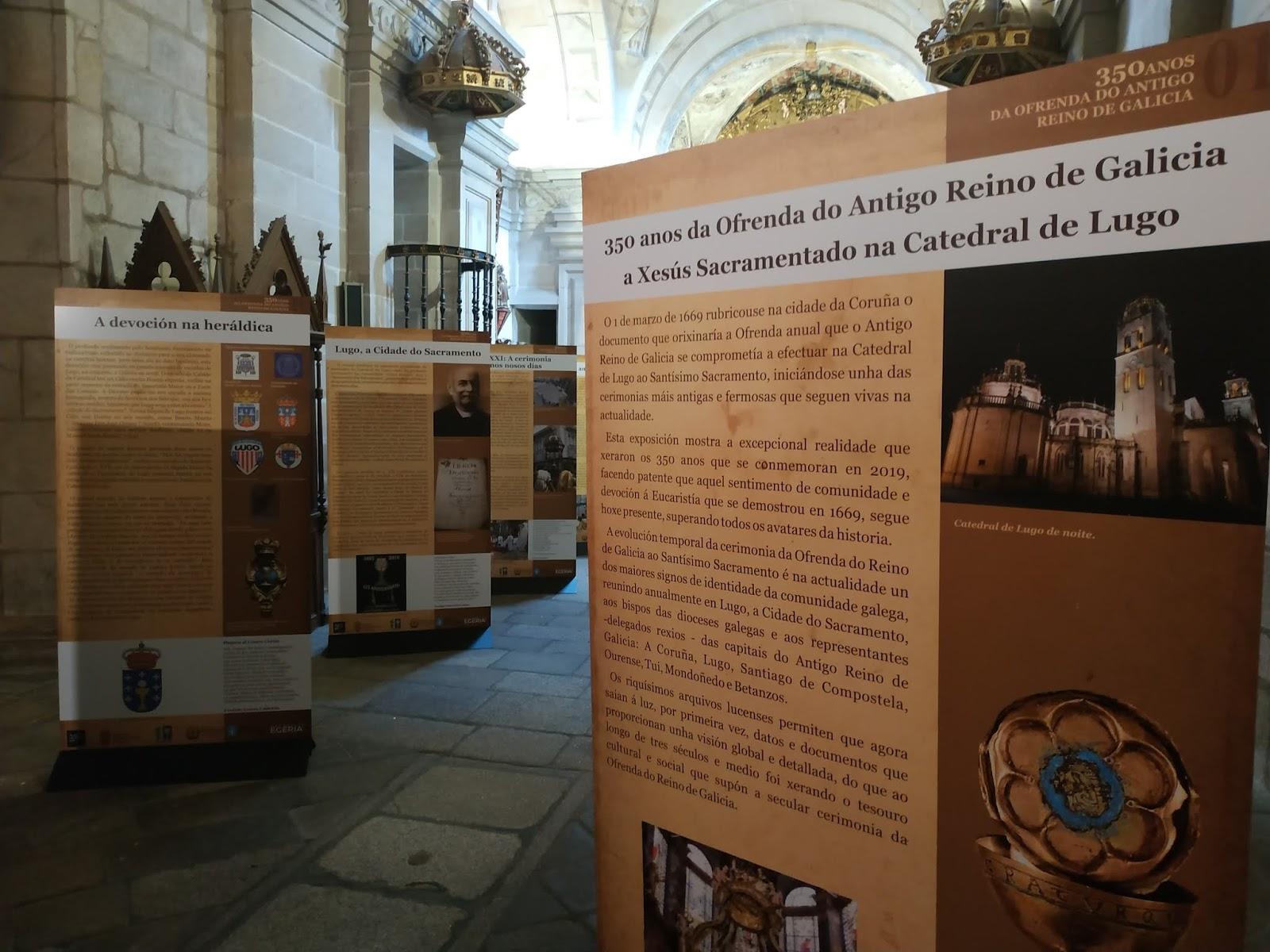 A Catedral acolle unha exposición sobre os 350 anos da Ofrenda do Antigo Reino de Galicia
