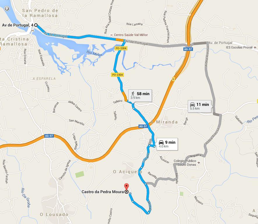 Cómo chegar: (Mapa) Non existen carteis informativos nas carreteiras circundantes. No mapa sinálanse as rutas máis accesibles.