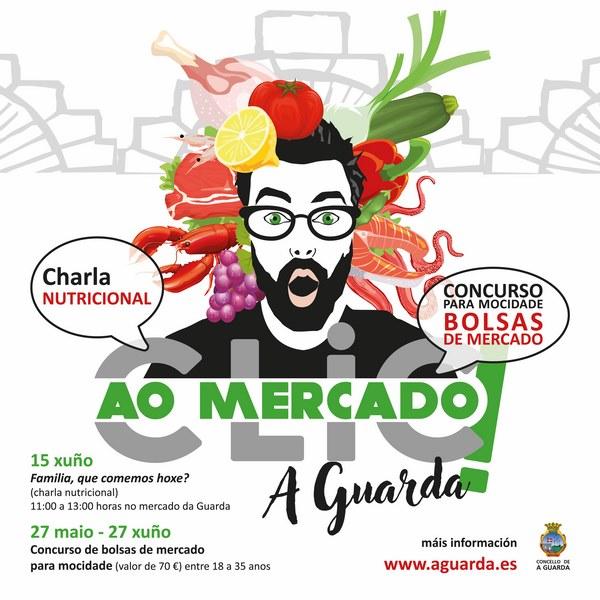 A Guarda lanza unha campaña para que tamén a xente xove merque no seu Mercado