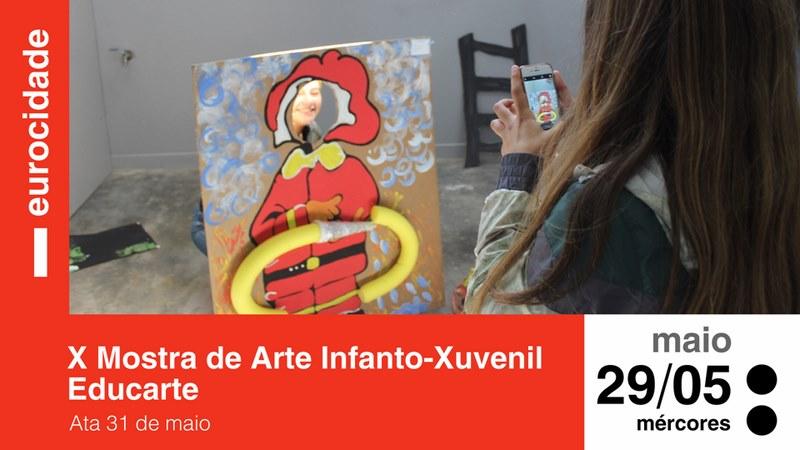 Centros escolares de Cerveira e Tomiño amosarán decenas de traballos artísticos elaborados polo alumnado