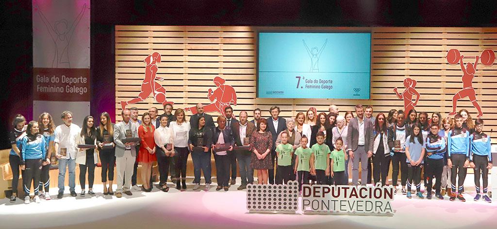 A Gala do Deporte Feminino Galego fai un canto unánime á igualdade e premia en Vilagarcía de Arousa o enorme talento das mulleres deportistas
