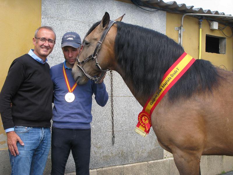 O nigranés Alejandro Nande, campión de España de Doma Clásica Adaptada