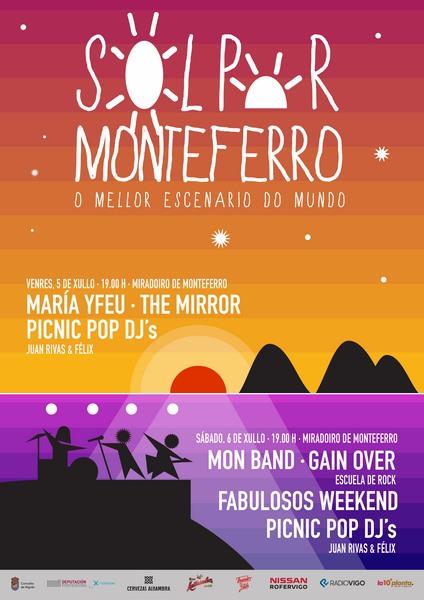 Nigrán da a benvida ao verán coa terceira edición do Festival 'Solpor Monteferro'