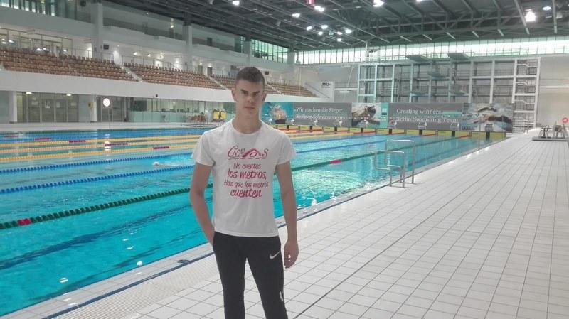 O Club Natación Mos representado por Juan Ferrón na Open International Series de Natación Paralímpica de Berlín