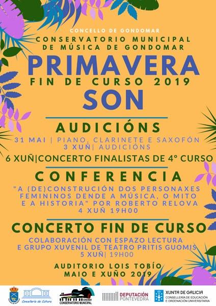 Fin de curso no Conservatorio de Gondomar con conferencias e concertos