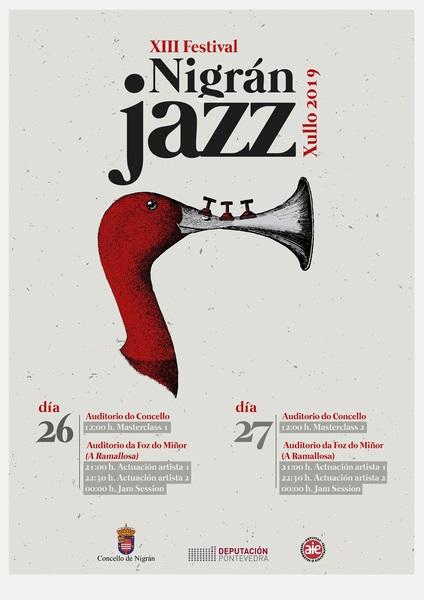O xurado do concurso de carteis 'Quin Alborés' elixe a imaxe do deseñador gráfico Leonardo Abate para difundir o Nigranjazz 2019
