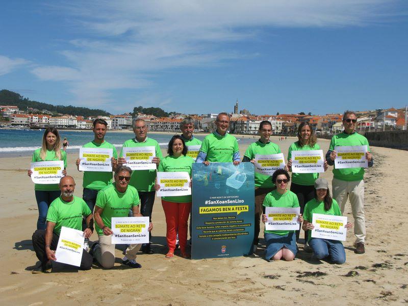 Nigrán emprende a primeira campaña de concienciación medioambiental de cara a festa de San Xoan