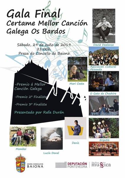 Dez artistas defenderán a súa canción no Certame de Mellor canción galega Os Bardos de Baiona
