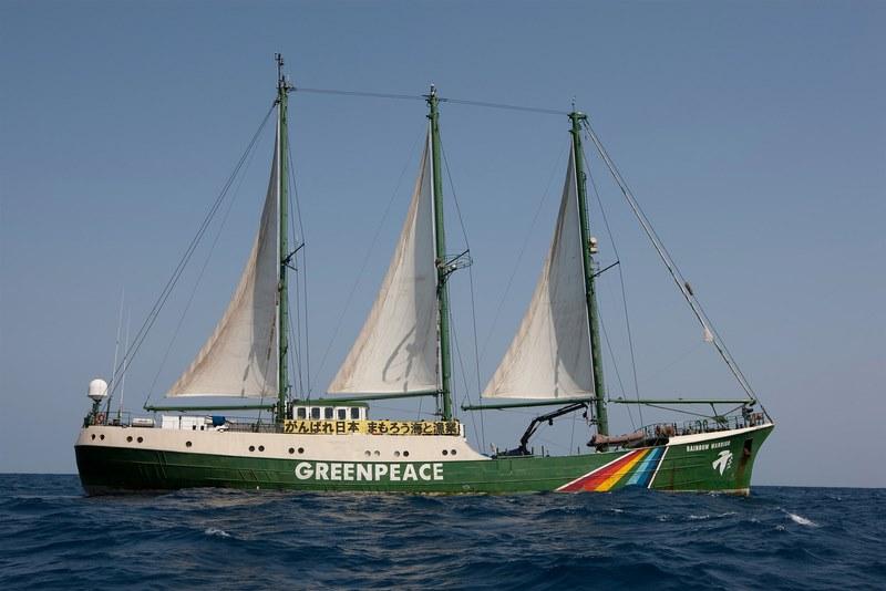 O Rainbow Warrior recalará en Vigo baixo o lema 'Cambia a enerxía, non o clima'