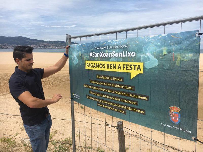 Nigrán blinda as dunas de praia América-Panxón con información da Campaña #SANXOANSANLIXO