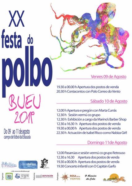 Bueu celebra a XX Festa do Polbo cunha trintena de especialidades e actividades culturais