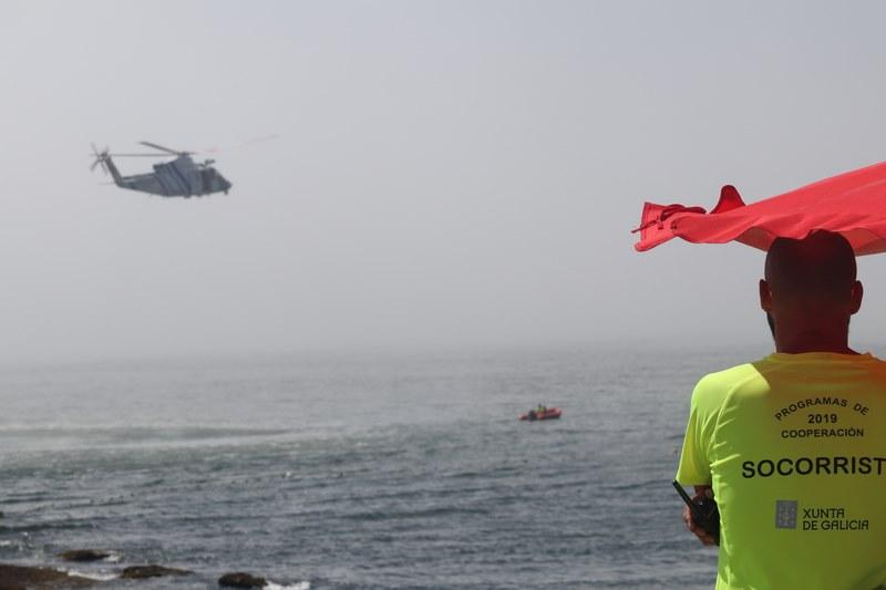 Socorristas da Guarda participan nun simulacro de emerxencias