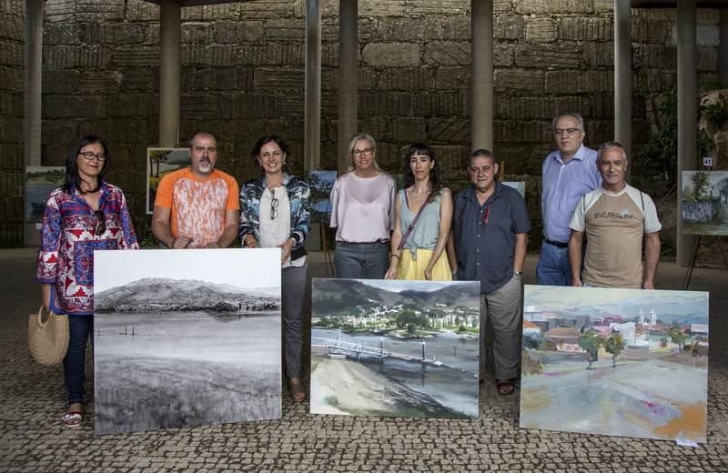 Tomiño e Cerveira disfrutaron da arte coa 7ª edición do Certame de pintura ao Aire Libre Antonio Fernández