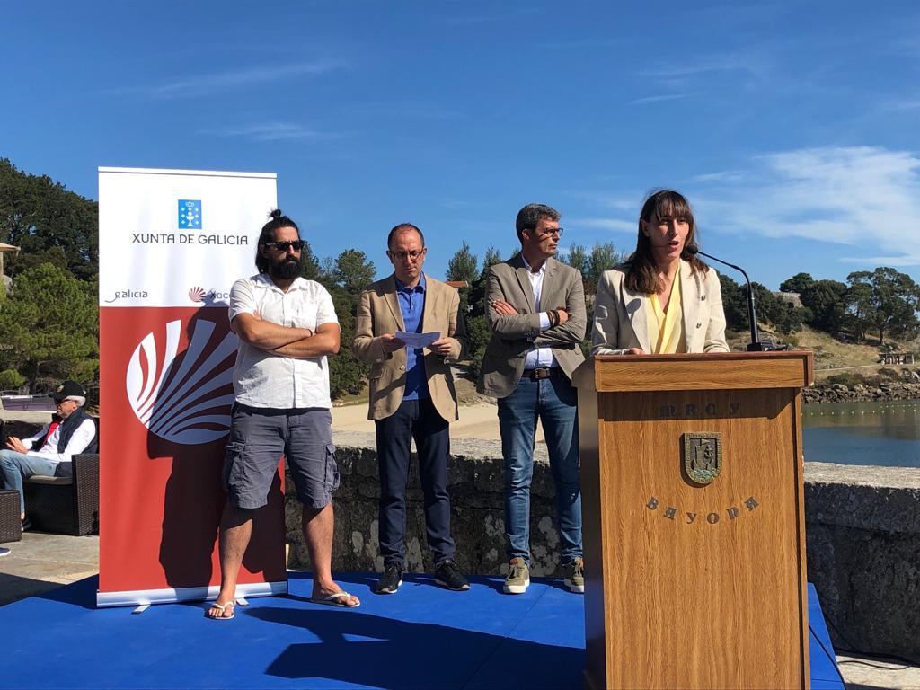 A Deputación leva o seu compromiso coa transición ecolóxica e a reducción de plásticos ao Barbeira Fest de Baiona
