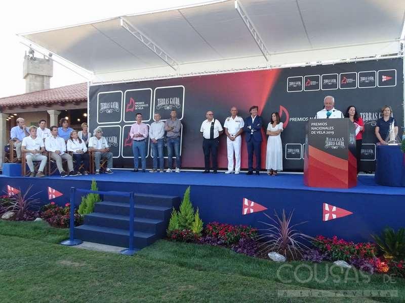O Monte Real Club de Yates de Baiona vístese de gala para a entrega dos Premios Nacionais de Vela Terras Gauda