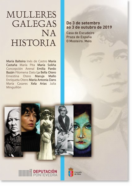 """A exposición itinerante """"Mulleres Galegas na Historia"""" chega a Meis"""