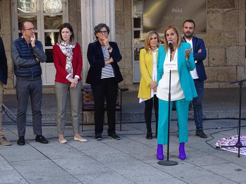 A Xunta e a Deputación de Pontevedra poñen en valor o Camiño Portugués en Porriño coa intervención artística de 'Camiño a Dentro'
